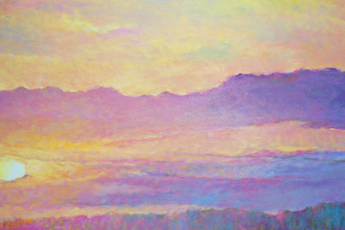 Sunset over the Hilltop - Signed, limited edition giclee