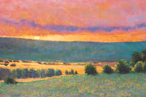 Sun on the Hill - Signed, limited edition giclee