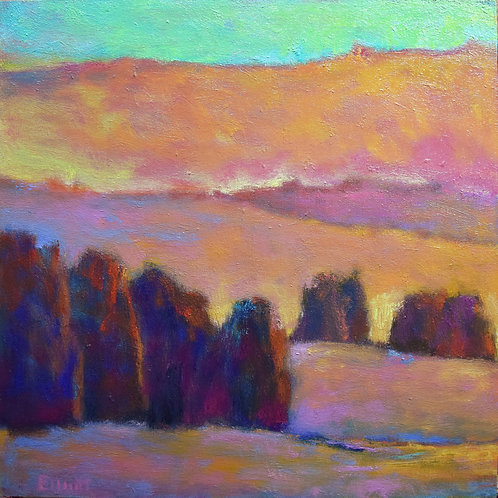 Sunset in Orange and Pink, Study