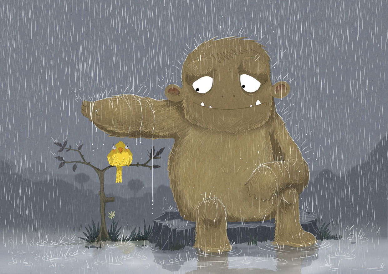 MONSTER-IN-RAIN-WITH-BIRD