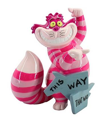 This way that way Cheshire Cat Mini Statue