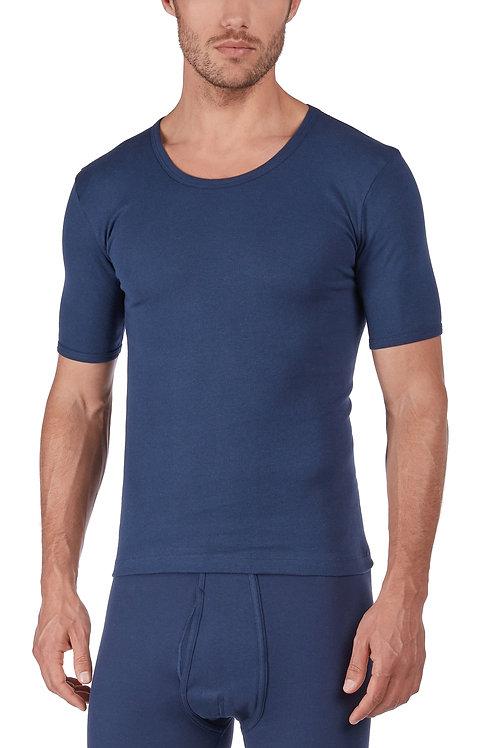 "Huber ""hautnah Cotton Fine Rib"" Herren Shirt Kurzarm"