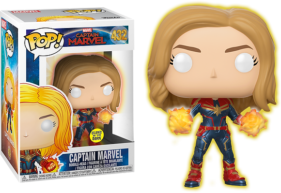 Marvel Captain Marvel Glow in the Dark Pop! Vinyl Figure