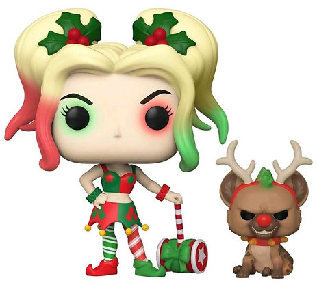 DC Harley with Bruce Holiday Pop! Vinyl Figure