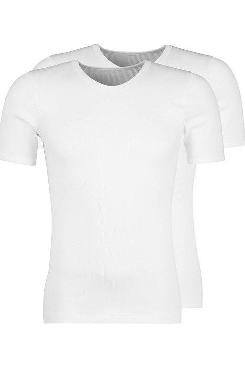 Huber DUO LINE 2:2 Rippe Herren Shirt Kurzarm 2er Pack