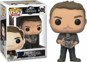 Jurassic World Owen with Baby Raptor Pop! Vinyl Figure