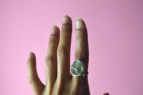 Green Amethyst in Silver