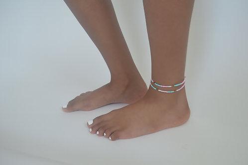 Pretty pink anklet set