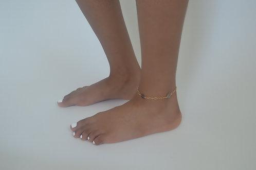 14k gold Labradorite anklet/bracelet