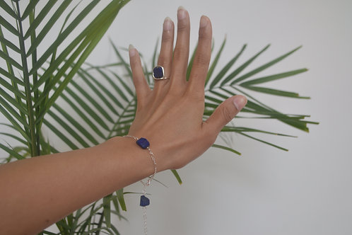Silver Lapis Bracelet/ Anklet