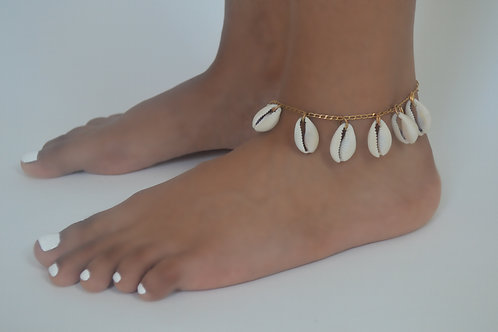 Cowry anklet