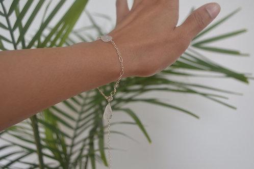 Silver moonstone bracelet/anklet