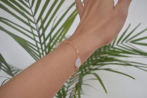Moonstone & 14k gold bracelet/anklet