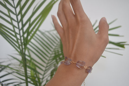 Ametrine & gold bracelet/anklet