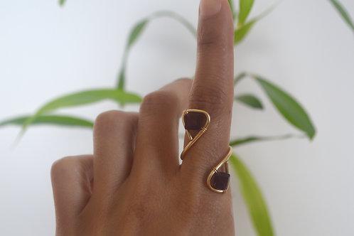 14k Gold Garnet