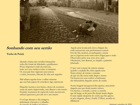 Sonhando com seu sertão (início de publicação de poesias)