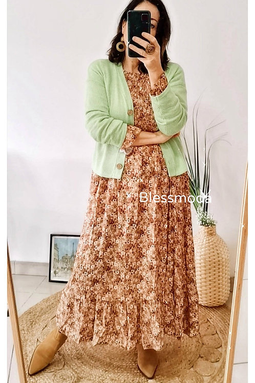 Dress Brown Flower