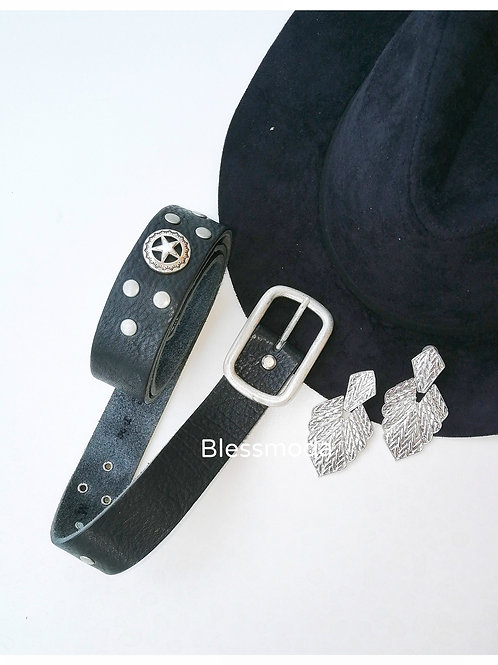 Belt Leather Silver