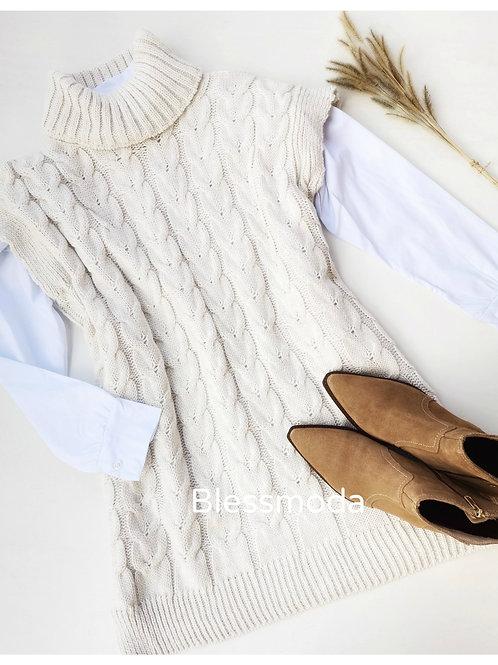 Chaleco Dress Trenza