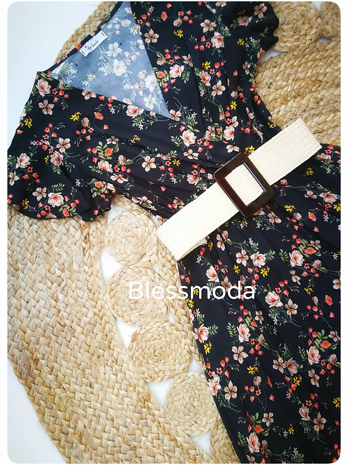 Dress Black Flower