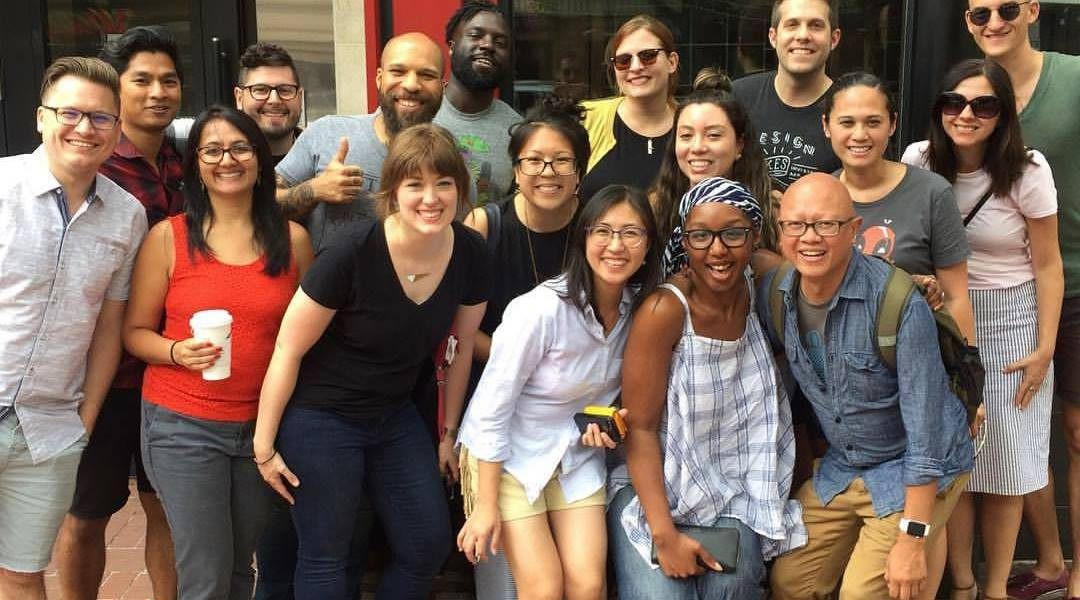 AIGA DC Board with 2017 Fellow
