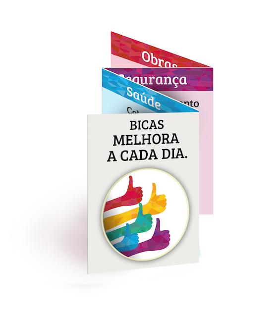Aplicação da campanha em impresso com dobras