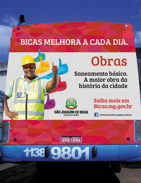 Aplicação da campanha em backbus