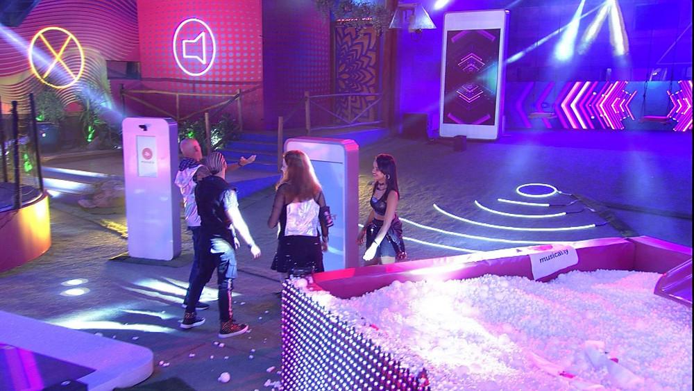Festa patrocinada pela Musical.ly no BBB18. Foto da globo.com