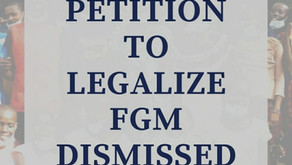 PETITION TO LEGALIZE FGM DISMISSED