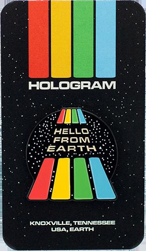 """Hello From Earth"" Enamel Pin"
