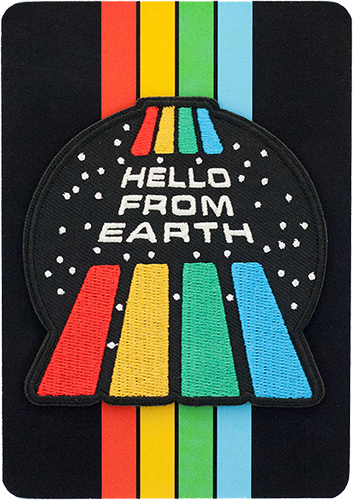 """Hello From Earth"" Patch"