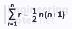 Sums of series, sigma notation. Free online a-level further maths core pure 1 CP1 notes. EngineeringNotes.net, EngineeringNotes, Engineering Notes.