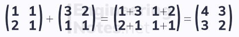 Adding and subtracting matrices. Free online a-level further maths core pure 1 notes. EngineeringNotes.net, EngineeringNotes, Engineering Notes.