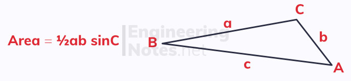 Area of a triangle, how to work out the area of a triangle, how to calculate the area of a triangle, finding area of a triangle, how to find the area of a triangle. GCSE Maths, A-Level Maths Notes. EngineeringNotes.net, EngineeringNotes, Engineering Notes