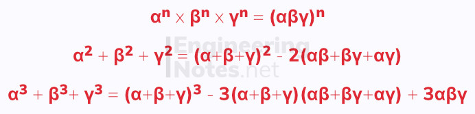 Roots of polynomials equations. Free online a-level further maths core pure 1 CP1 notes. EngineeringNotes.net, EngineeringNotes, Engineering Notes.
