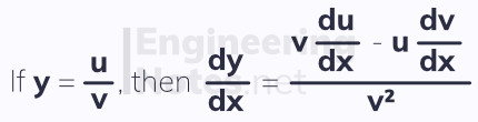 The quotient rule, differentiation. Free online A-Level Maths notes. EngineeringNotes.net, EngineeringNotes, Engineering Notes