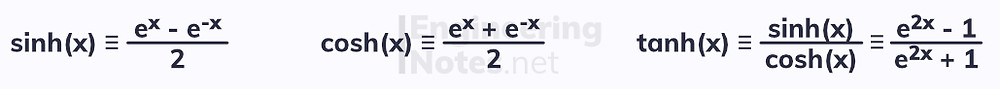 Hyperbolic functions. Free online a-level further maths core pure 2 CP2 notes. EngineeringNotes.net, EngineeringNotes, Engineering Notes.