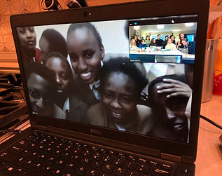 Skype call with scholarship recipients in Kenya