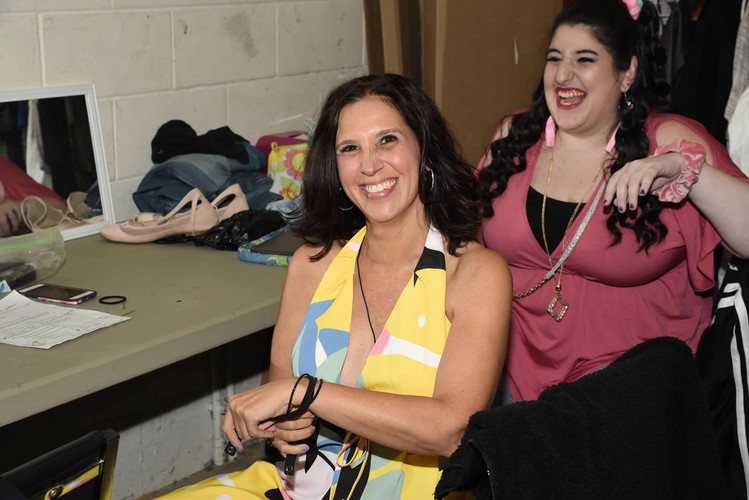 Backstage laughs!