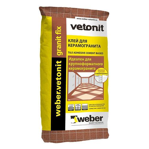 weber.vetonit granit fix фасадный клей для искусственного камня