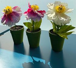 pots de fleurs artificielles