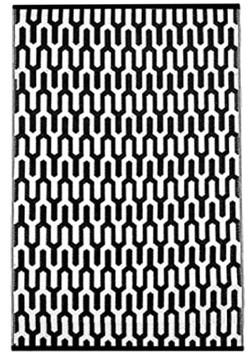 tapis noir/blanc