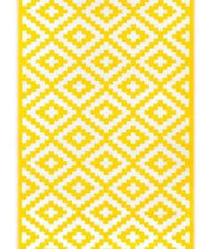 tapis jaune/blanc
