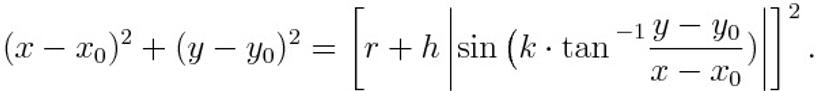 Cartesian equation of a round cartoons cloud