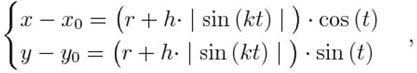 Parametric equations of a round cartoons cloud