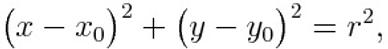 Cartesian equation of a generic circle