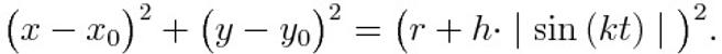 Toward to the Cartesian equation of a round cartoons cloud
