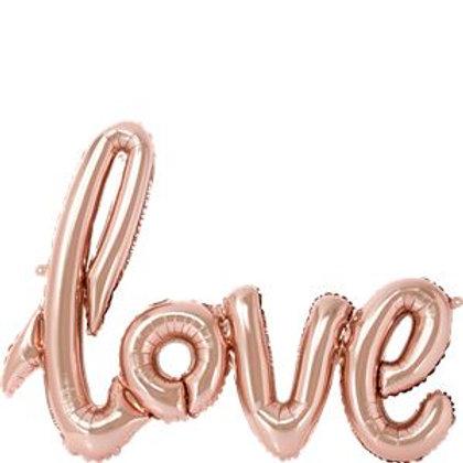 "Rose Gold Love Foil Balloon - 30"""