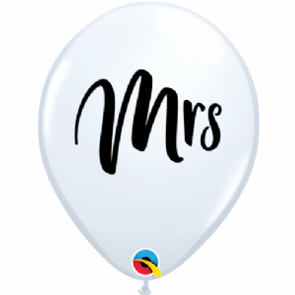 "Mrs 11"" Latex Balloon"