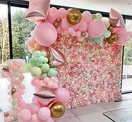 Pink Flower Wall Hire Surbiton